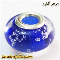 حلقه گردنبند و دستبند نقره پاندورا آبی پر رنگ درخشان