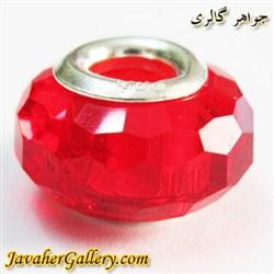 حلقه گردنبند و دستبند نقره پاندورا با کریستال قرمز زیبا
