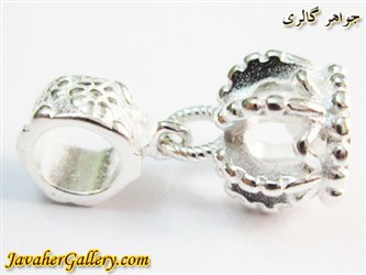 حلقه نقره دستبند و گردنبند پاندورا آویزی با طرح تاج درخشان و زیبا