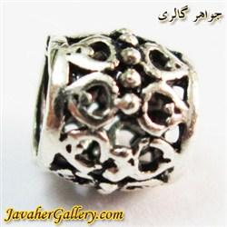 حلقه گردنبند و دستبند نقره پاندورا بین مهره ای