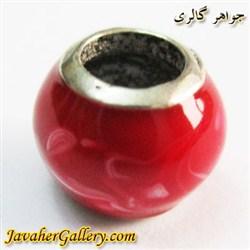 حلقه گردنبند و دستبند نقره پاندورا با رنگ قرمز