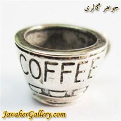 حلقه گردنبند و دستبند نقره پاندورا اصل با طرح فنجان کافی