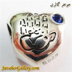 حلقه گردنبند و دستبند نقره پاندورا pandora اصل با یاقوت کبود طرح قلب و دست لوکس و زیبا