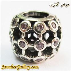 حلقه نقره گردنبند و دستبند pandora پاندورا اصل با نگینهای کوارتز و طرح زیبا
