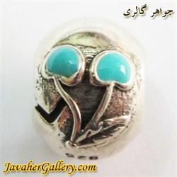 حلقه نقره گردنبند و دستبند pandora پاندورا اصل با طرح گیلاس سبز و مینا کاری