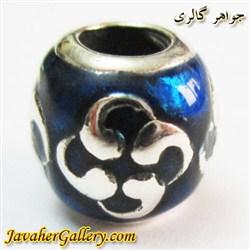 حلقه نقره گردنبند و دستبند pandora پاندورا اصل آبی با طرح زیبا