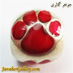 حلقه نقره گردنبند و دستبند pandora پاندورا اصل طرح پنجه سگ قرمز