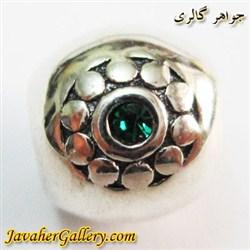 حلقه نقره گردنبند و دستبند pandora پاندورا اصل با نگینهای کوارتز سبز و طرحی لوکس