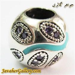 حلقه نقره گردنبند و دستبند pandora پاندورا اصل با سنگهای آمیتیست طرح لوکس