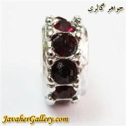 حلقه نقره گردنبند و دستبند pandora پاندورا با نگینهای یاقوت سنتاتیک قرمز
