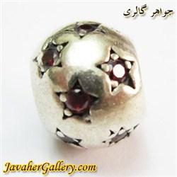 حلقه نقره گردنبند و دستبند pandora پاندورا اصل طرح ستاره با سنگهای یاقوت