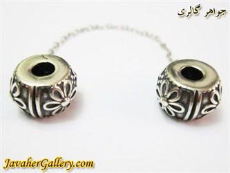 قفل نقره دستبند pandora پاندورا با طرح گل