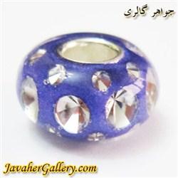 مهره دستبند و گردنبند نقره پاندورا pandora آبی پر رنگ شفاف با نگینهای زیرکن