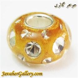 مهره دستبند و گردنبند نقره پاندورا pandora زرد پر رنگ شفاف با نگینهای زیرکن