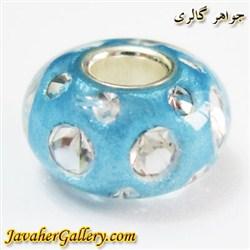 مهره دستبند و گردنبند نقره پاندورا pandora آبی کمرنگ شفاف با نگینهای زیرکن