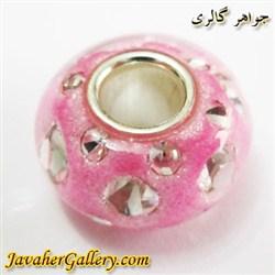 حلقه دستبند و گردنبند نقره پاندورا pandora صورتی شفاف با نگینهای زیرکن