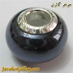 حلقه دستبند و گردنبند نقره پاندورا pandora اصل مشکی با سنگ عقیق براق