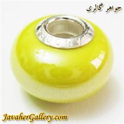 حلقه دستبند و گردنبند نقره پاندورا pandora اصل زرد با سنگ عقیق براق