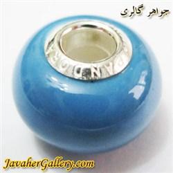 حلقه دستبند و گردنبند نقره پاندورا pandora اصل آبی کمرنگ با سنگ عقیق براق
