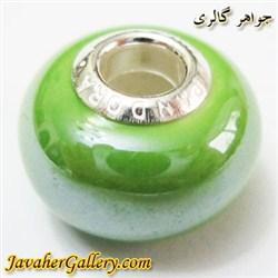 حلقه دستبند و گردنبند نقره پاندورا pandora اصل سبز با سنگ عقیق براق