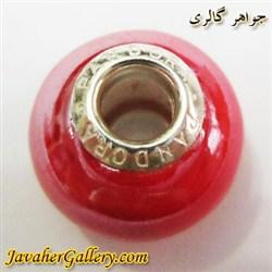حلقه دستبند و گردنبند نقره پاندورا pandora اصل قرمز کمرنگ با سنگ عقیق براق