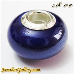 حلقه دستبند و گردنبند نقره پاندورا pandora اصل آبی پر رنگ با سنگ عقیق براق