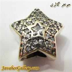 حلقه نقره گردنبند و دستبند pandora پاندورا اصل با سنگهای زیرکن سفید و طرح ستاره