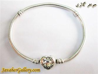 دستبند نقره پاندورا pandora اصل طرح قلب لوکس و زیبا