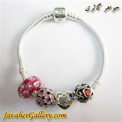 دستبند نقره پاندورا pandora اصل با مهره های نقره درخشان و زیبا