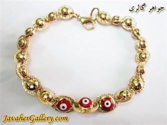 دستبند ژوپینگ xuping چشم و نظر با آب طلا زیبا